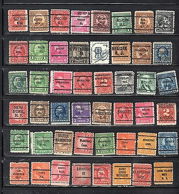Lot Of Mixed Precancels Stamps United States Used Stamps Lot Pc 11003