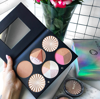 "STUNNING OFRA PROFESSIONAL ""On The Glow"" HIGHLIGHTERS BRONZER PALETTE BOOK!"