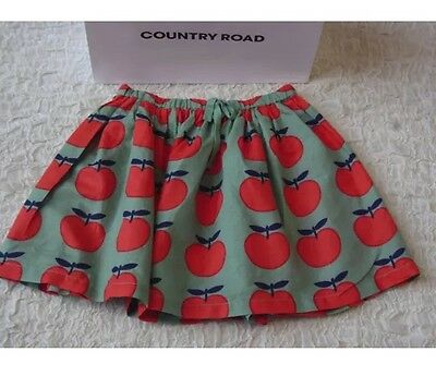 COUNTRY ROAD girls size 8 APPLE PRINT SKIRT, SUMMER 2017 NEW