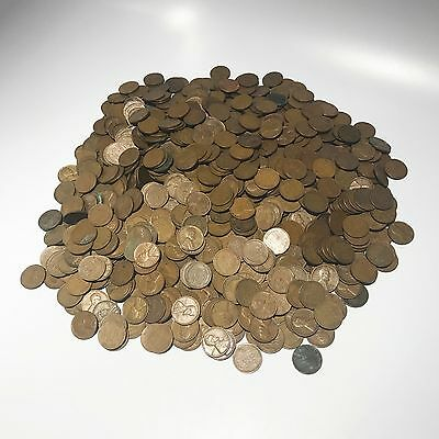 Un-searched Wheat Penny Collection - 1500 Coins - Free Shipping USA