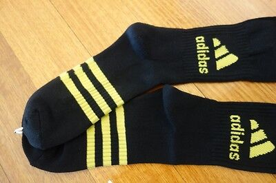 Adidas Long Socks Size 3 Black With Yellow Brand New
