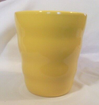 "Ceramic Planter, Made in Germany, Egg Yolk Yellow, 5.5"" high"