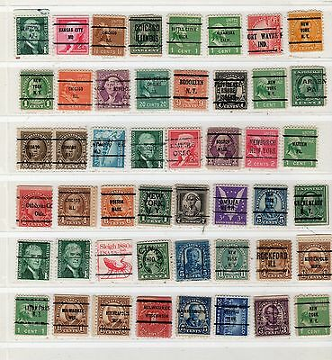 Lot Of Mixed Precancels Stamps United States Used Stamps Lot Pc 11001