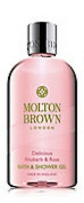 Molton Brown Delicious Rhubarb & Rose Bath & Shower Gel 300Ml New Free P/p