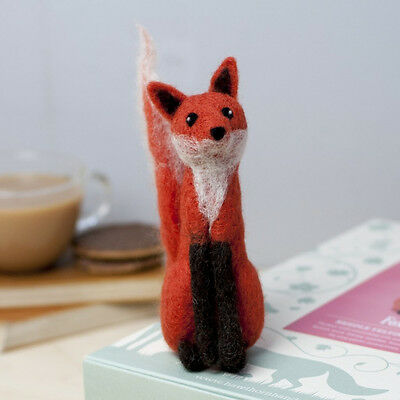 Needle Felting FOX Kit. The perfect holiday or rainy day project or gift
