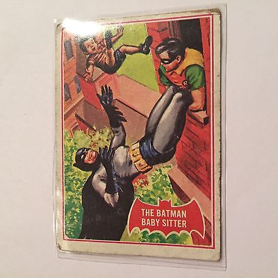 SCANLENS 1966 BATMAN CARD #34A The Batman Babysitter Penguin Puzzle Back
