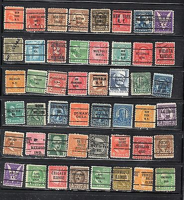 Lot Of Mixed Precancels Stamps United States Used Stamps Lot Pc 10998