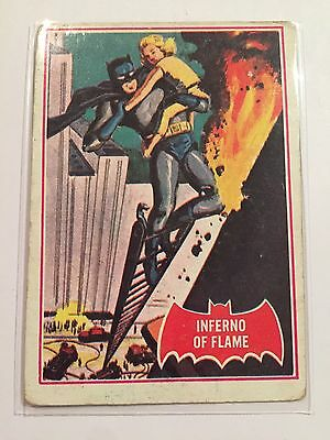 SCANLENS 1966 BATMAN CARD #40A Inferno Of Flame Robin Puzzle