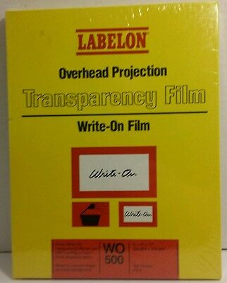 Labelon Overhead Projection Transparency Film 100 Sheets Wo500