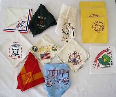 Mixed Lot 12 BSA Boy Scout Friendship Jamboree Piankeshaw Neckerchief Scarves