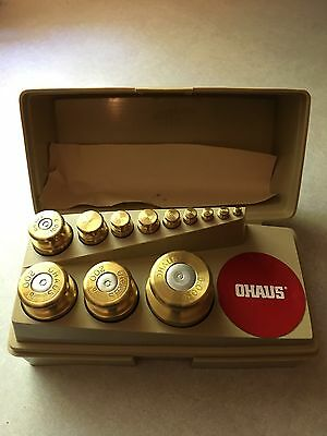 Ohaus Sto-A-weigh Gram Weight Set For Scale Weighing Precious Metals 12 Piece