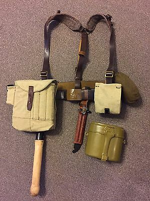 Soviet Russian Webbing - Full Web Belt Set for AK AK74 AK47 Army Shovel UNISSUED