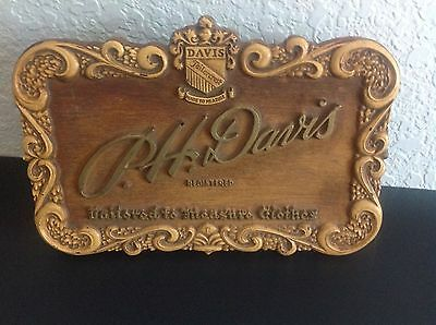 Vintage 1930s 1940s Tailored Clothing Store Advertising Display Sign P H Davis