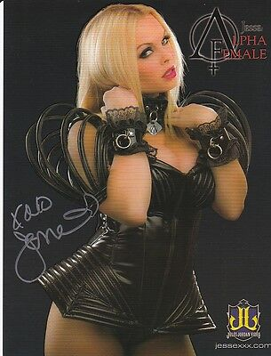 Jesse Jane, PornStar, 2-sided Autographed 8.5x11 Photo+photo holding signed pic