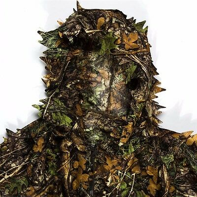 DHD woodland 3D sniper ghillie suit Hunting clothes,Men/Women Adult Free Size
