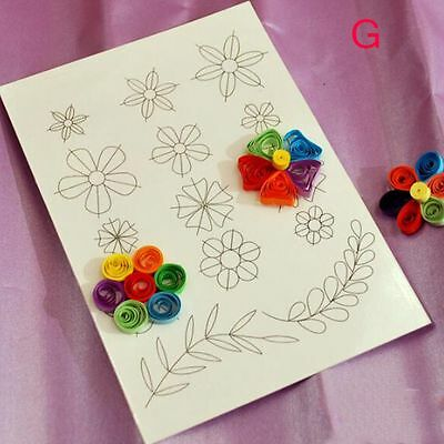 Template Scrapbooking Flower DIY Tools Paper Crafts Kit Mould Quilling Rolling