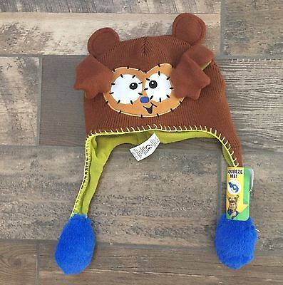 Flipeez Brown Bear Knit Hat Boy Girl Unisex