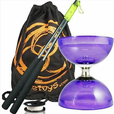 Juggle Dream Cyclone Quartz 2 Pp Triple Bearing Diabolo, Metal Diablo Sticks, &