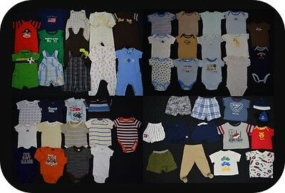 HUGE 53 piece Baby Boy size 3 - 6 months spring summer clothing lot - good deal!