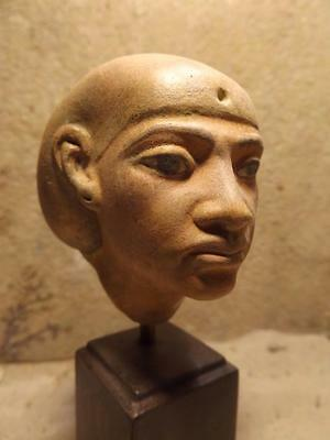 Egyptian Statue / Akhenaten era statue replica of Queen Tiye - Amarna art.