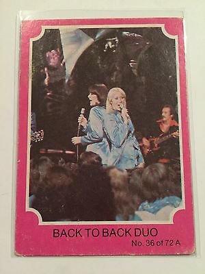 SCANLENS ABBA TRADING CARD A #36 Back To Back Duo