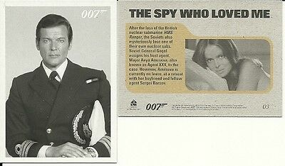 James Bond Archives 2015 - The Spy Who Loved Me Throwback card lot {26}