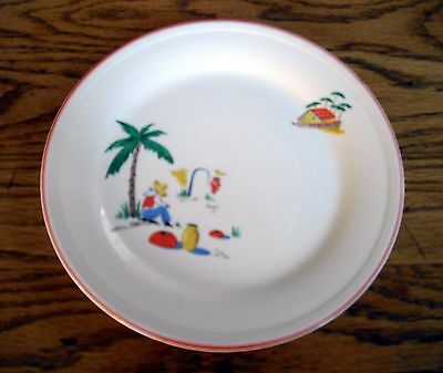 """Vintage Edwin M. Knowles Tia Juana Sleeping Mexican 8 1/2"""" Luncheon Plate ~"""