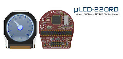 "4D Systems uLCD-220RD 1.38"" ROUND TFT Intelligent Display Module"