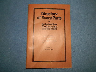 Reprint Spare Parts Catalog 1913 to 1921 Twin Cylinder Harleys J JD