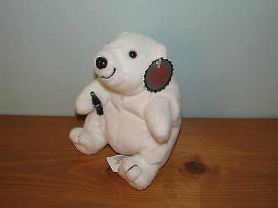 Coca-Cola Polar Bear Bean Bag Plush With Tags New old Stock (C)