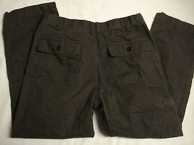 NEW Docker Mens Pacific Collection Comfort Cargo Classic Fit Pant 34 X 29 Gray