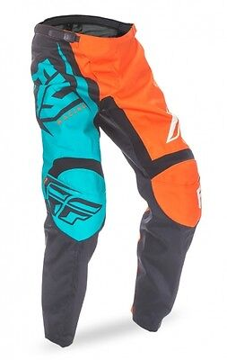 Fly Racing F-16 2017 Youth Pant Ora/teal