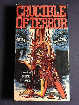 Crucible Of Terror VHS Movie Tape Video Horror Classic 1987 Release  !!!