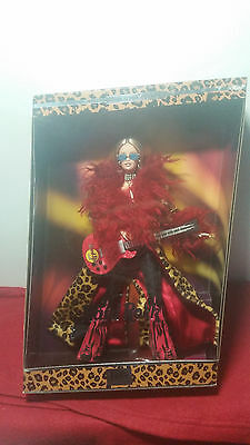 2003 Hard Rock Café 1St Edition Cheetah Red Guitar Barbie Nrfb Free Shipping!!!
