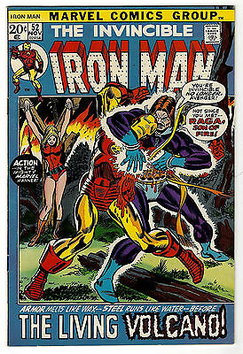 Iron Man #52 (8.0) White Pages Higher Grade Copy