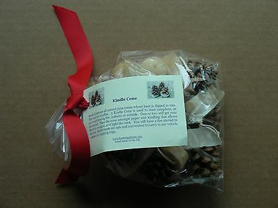 (Bag Of 8) Kindle Cone Pine Cone Fire Starters, Hand Made In The U.k. *new*