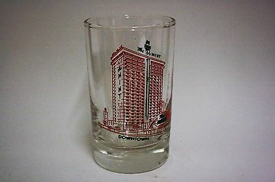 "Vintage Las Vegas ""MINT"" Casino / Hotel Glass - Red Lettering - 4"""