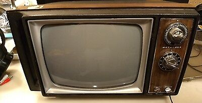 motorola tv black & white tested  working great for art projects tube tv