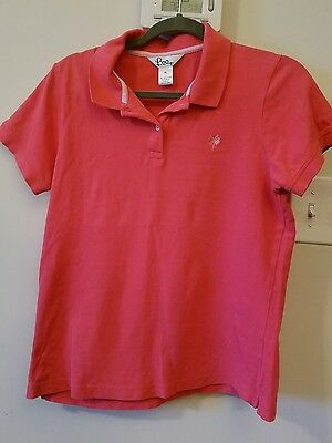 Lilly Pulitzer Pink Polo Shirt Girl's XL 14-16? Casual School