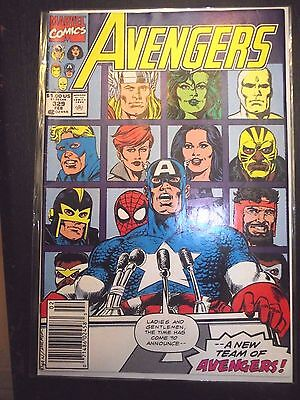 The Avengers #329 (1991) Spider-Man joins the reserves Newsstand edition FN