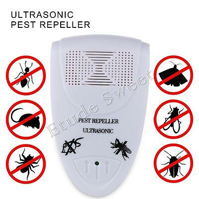 Whole House Fly Mouse Mice Spider Insect Ultra Sonic UK Plug In Pest Repeller UK