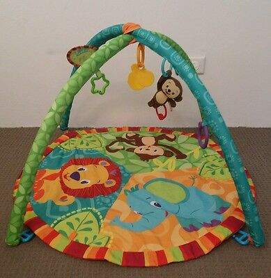 Bright Starts Pal Around Jungle baby play activity musical gym mat
