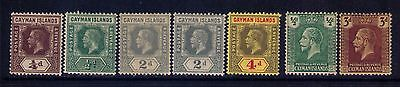 Cayman Islands Stamps SC# 32-33;35;38;51;56 MH