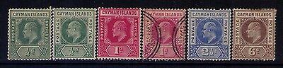 Cayman Islands Stamps SC# 21-23;26 MH/USED CAT.$30