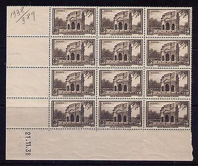 France Timbres/ Stamps 1938,SC#342 dated BK12, MNH