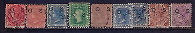 """New South Wales Stamps, """"OS"""" Ovpt SC# O1-2;O13;O17 MH/USED Cat.$58"""