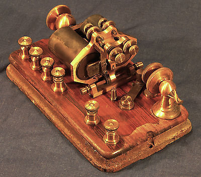 Nice Brass & Wood Telegraph Sounder --- Free Shipping