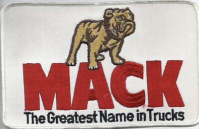 COLLECTABLE MACK TRUCKS  JUMBO  SIZE PATCH  8 in. X 5in. LOOKS GREAT ON JACKET