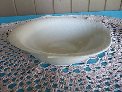 "MEISSEN Germany - Weifs ""WAVE WHITE""  shape Waves Relief 8"" Round VEGETABLE BOWL"