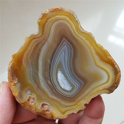 109G  Beautiful natural  agate  crystal  Stone slice polished   62204